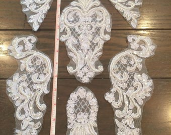 Beaded Lace Appliques