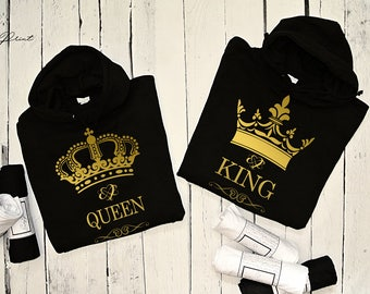 "Hoodies for couple ""KING & QUEEN"""
