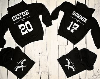 "Hoodies for couple ""BONNIE AND CLYDE"""