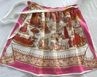 Vintage linen apron by Fragonard