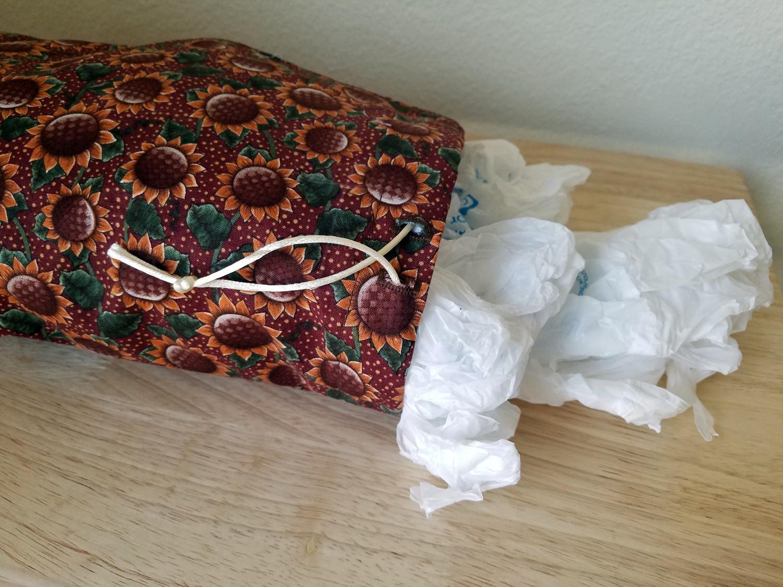 Plastic bag keeper - Sunflower Grocery Bag Holder Plastic Bag Holder Grocery Bag Keeper Plastic Bag Keeper Organizer