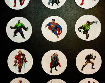 Precut Superheroes- Pick one, two or all of them for your cupcakes, cookies or cakes