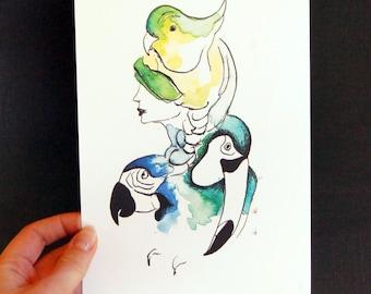 "Poster ""bird woman"""