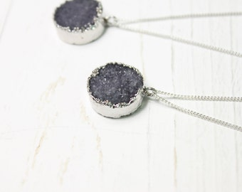 Necklace with Agate Druzy