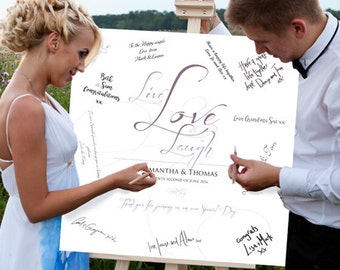 Wedding Guest Signing Canvas