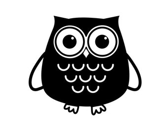 Owl Vinyl Decal, Cute Owl Laptop, Car, Yeti sticker