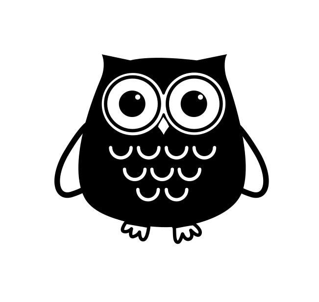 Owl Vinyl Decal Cute Owl Laptop Car Yeti Sticker - Owl custom vinyl decals for car