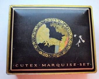 SALE!!  Original Cutex Marquise Manicure Set In Tin Box  214