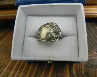 sterling silver spoon ring size 9.75