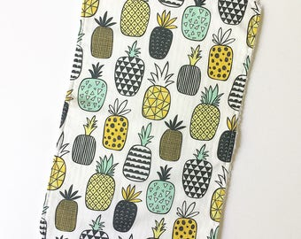 Mix & Match baby burp cloths- happy pineapple - Burp Rag - baby spit up - baby gift - baby shower - gender neutral baby gift
