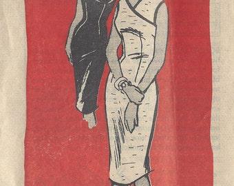 "1961 Vintage Sewing Pattern B36"" DRESS (R435)  Printed Pattern 4890"