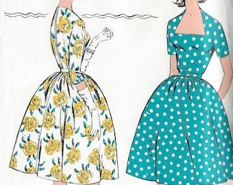 1960s Vintage Sewing Pattern B38 DRESS (1323) Le roy 2349