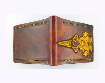 Vivi Ornitier - Leather Bifold Wallet - Handcrafted Final Fantasy inspired Wallet -