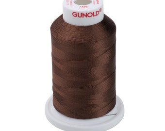 1129 Brown Gunold Thread - 40 WT SULKY RAYON Mini King Cones 1,100 Yds - Machine Embroidery Thread