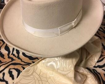 Cream Mens Hat