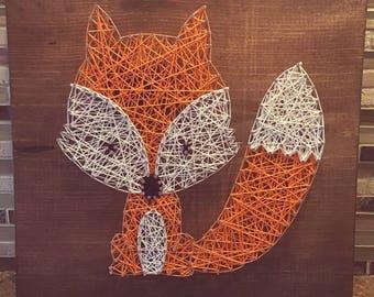 String art Woodland Fox