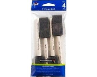 Plaid® Foam Brush Set, Set of 4, 1 inch Brushes