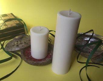 White Soy Wax Pillar Candles