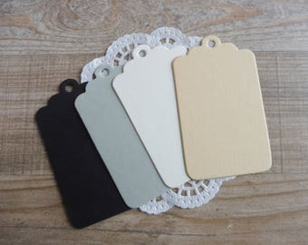 Tags 20-piece available in 4 different colours here listed and numbered