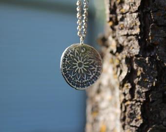 custom pmc pendant | fine silver flower pendant | flower pendant pmc | pmc flower pendant | flower pendant custom | custom flower pendant