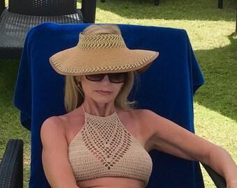 Crochet swimsuit bikini top swimwear  top covers up customsize and color summer trend bikini
