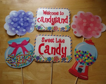 35 Piece Candyland Party Photo Booth Prop, Candyland Themed Birthday Party