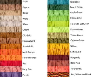 Twisted Fabric Cable 3 Core, HUGE Variety of Colours