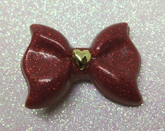 Red Hair Bow   Dorothy Hair Bow   Ruby Red Bow   Lolita Hair Bow   Sparkly Red Bow Dorothy Bow   Princess Bow