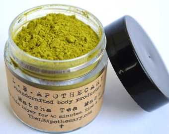 Organic Matcha Green Tea Mask / Green Tea Mask / Valentines Day / Acne / Facial Cleanser / Facial Mask / Acne Mask / Rosecea / Birthday Gift