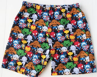 Mini Marvel Shorts cotton boys Size 3 hulk thor captain America