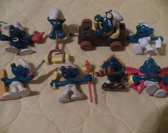 lot of early Smurf figures 1978-1982