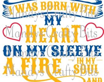 SVG Steelers I Wear My Heart on My Sleeve