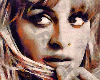 Nicole Richie Art Print - Oil Painting Poster  LFF0136