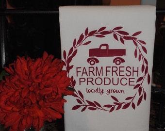 Farm Fresh Produce Tea Towel
