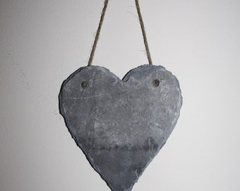 150 year old welsh slate Heart.