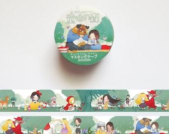 Princess Washi Tape, Fairytale Washi Roll, Pocahontas, Red Riding Hood, Rapunzel, Beauty and the beast, Tarzan