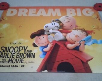Snoopy & Charlie Brown Cinema Poster x2