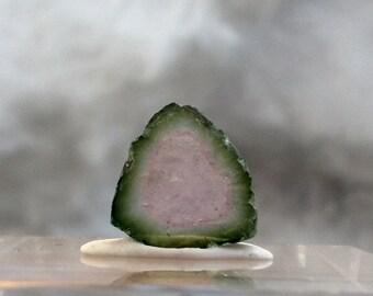 5.5 ct watermelon tourmaline slice from Kunar, Afghanistan C15