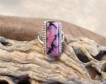 Elegant Rhodonite Ring 1225