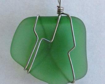 Item# P-0003 Green Sea Glass
