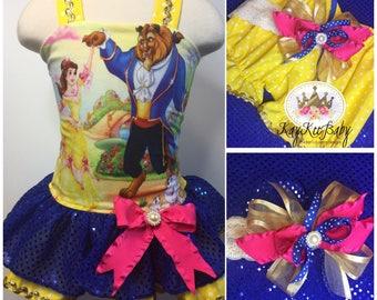 Disney belle costume dress romper playsuit