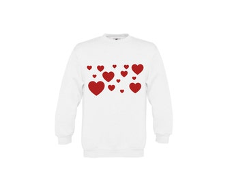 Hearts sweater, Kids love sweater, i love you sweater, kids valentines sweater, valentines day sweater, kids valentines gift, kids hearts
