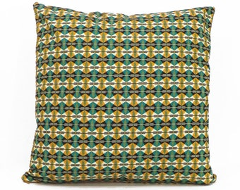 "Cushion cover with pattern (""Mbour"") - handmade by YUVIA"