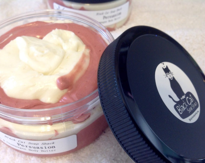 Persuasion Strawberries & Champagne Whipped Body Butter - Book Gifts, Jane Austen, Whipped Lotion, Winter Beauty, Vegan Moisturizer, Vegan B