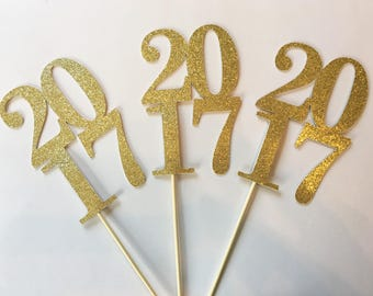 Glitter 2017 Centerpiece, Graduation Centerpiece, Class of 2017 decoration, Grad Party decor, 2017 graduation decorations