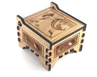Mermaid Box - Mermaid Jewelry Box - Keepsake Box - Wood Jewelry Box - Wood Mermaid Box - Mermaid Decor - Jewelry Box Girl - Wood Box