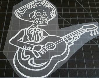 Day of the dead Dia de Los Muertos mariachi vinyl decal car truck laptop