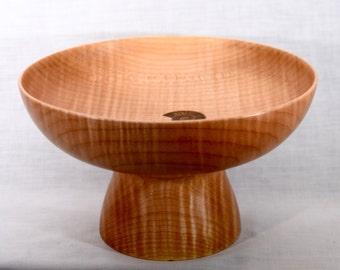 maple bowl, ammonite inlay, qx 177