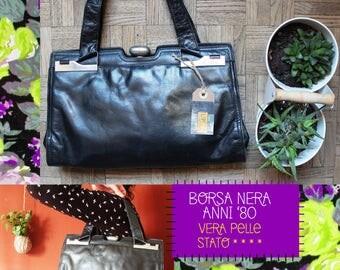 Vintage leather bag/80 's/Vintage bag