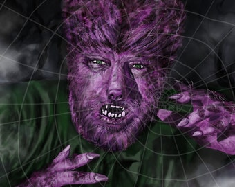 Lon Chaney Jr. as The Purple Wolfman by Mikey Sevier